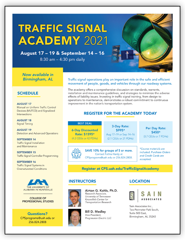 Traffic Signal Academy Flyer