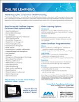 Online Learning Flyer