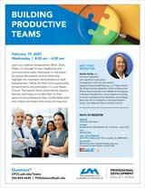 Building Productive Teams Flyer